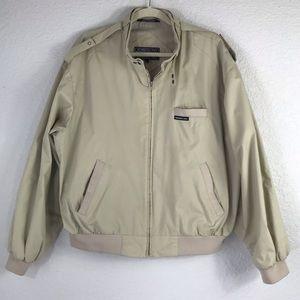 Vintage 80's Members Only Tan Jacket XL